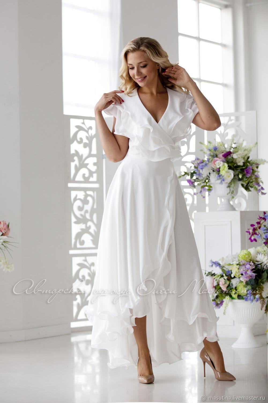 3f91ed02fbe Одежда и аксессуары Свадебные платья со шлейфом ручной работы – купить в  интернет магазине