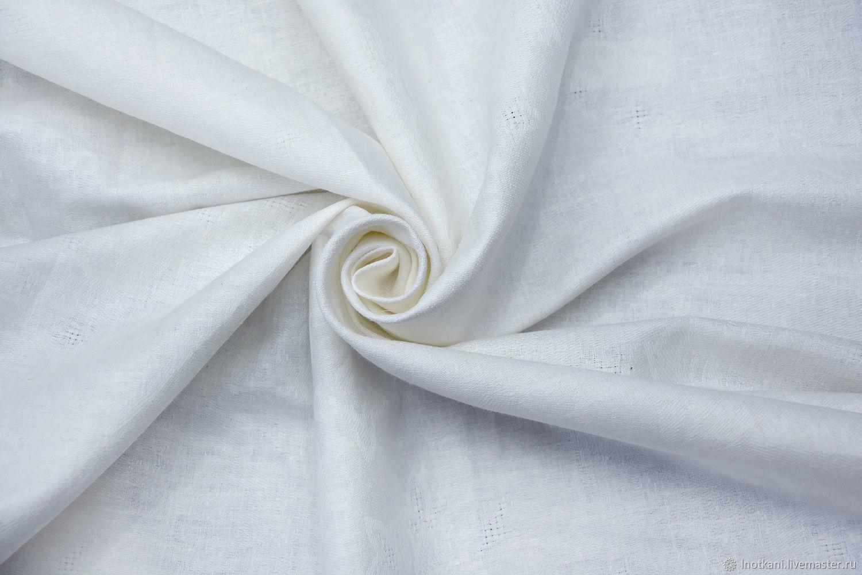 Ткань льняная жаккардовая белая с уценкой, Ткань, Нижний Новгород, Фото №1