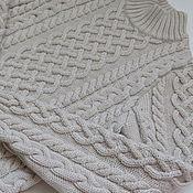Работы для детей, ручной работы. Ярмарка Мастеров - ручная работа Молочно-бежевый свитер для девочки. Handmade.