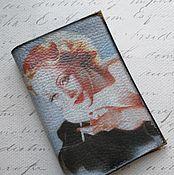 Канцелярские товары handmade. Livemaster - original item Cover for a passport, a Woman with a cigar. Handmade.
