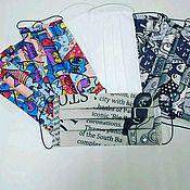 Защитные маски ручной работы. Ярмарка Мастеров - ручная работа Защитные многоразовые маски, х/б.. Handmade.