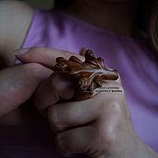 Украшения ручной работы. Ярмарка Мастеров - ручная работа Кольцо деревянное Веточка. Handmade.