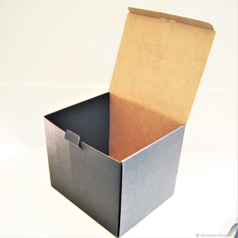 """Коробка """"Черный куб 23х20х20 см""""  микрогофрокартон, Упаковка, Москва, Фото №1"""