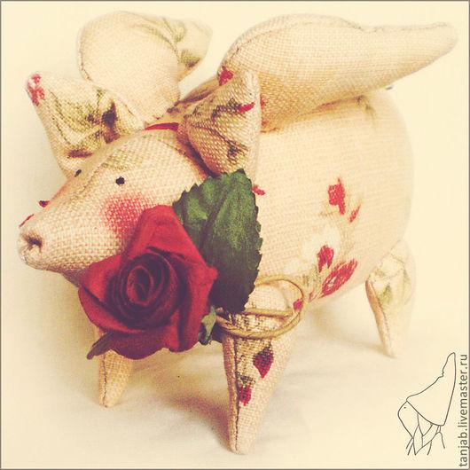 Куклы Тильды ручной работы. Ярмарка Мастеров - ручная работа. Купить Тильда-Свинег, с любовью (повтор). Handmade. Розовый