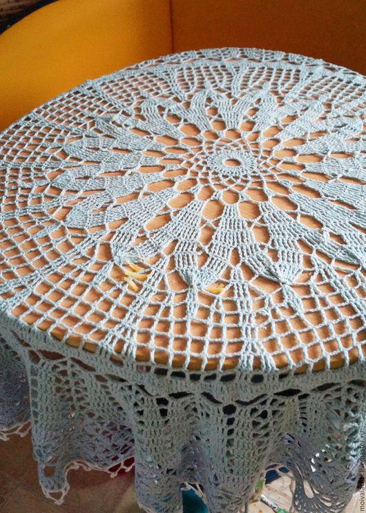 Текстиль, ковры ручной работы. Ярмарка Мастеров - ручная работа. Купить Скатерть вязанная круглая, скатерть на стол, круглая, ручная работа. Handmade.