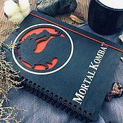 Канцелярские товары handmade. Livemaster - original item Mortal Kombat Wooden Notepad / Sketchbook. Handmade.