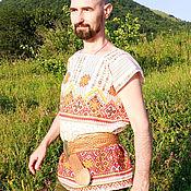 Русский стиль handmade. Livemaster - original item Shirt without sleeves Dobrynushka. Handmade.