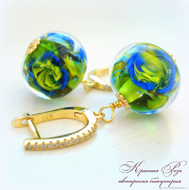 Earrings 'Sea flower'', Earrings, Stupino,  Фото №1
