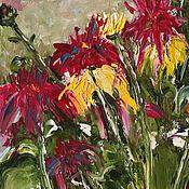 Подарки к праздникам handmade. Livemaster - original item Painting oil Chrysanthemum flowers on canvas 30H40. Handmade.