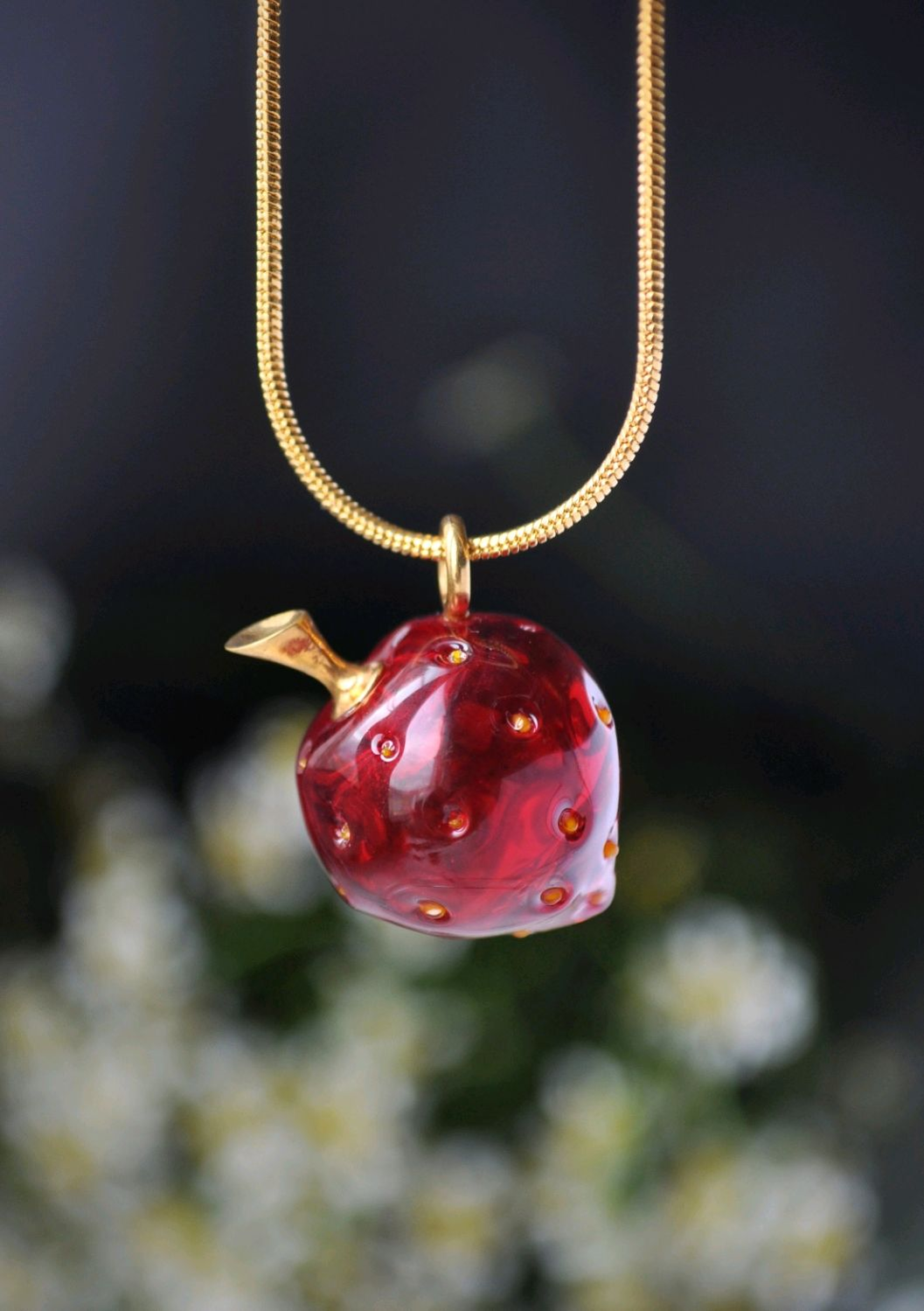 Red strawberry pendant, Pendants, Moscow,  Фото №1