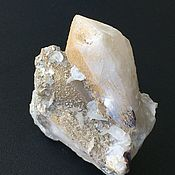 Фен-шуй и эзотерика handmade. Livemaster - original item Candle quartz (candle) with calcite, Muscovite, hematite. Handmade.