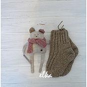 Работы для детей, ручной работы. Ярмарка Мастеров - ручная работа Комплект аксессуаров - 2: пинетки + игрушка. Handmade.
