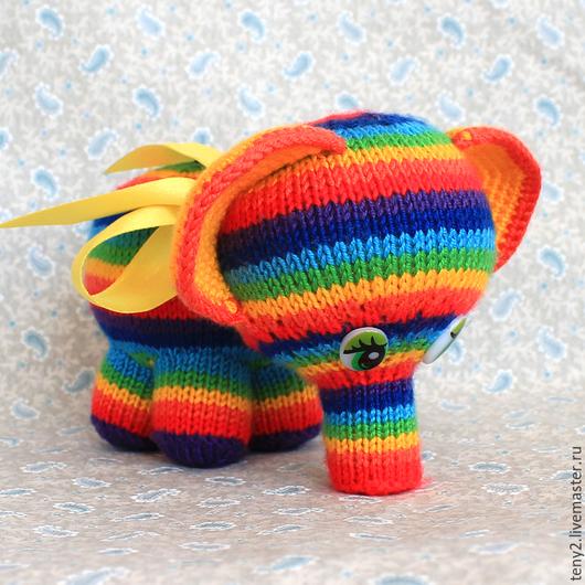 Игрушки животные, ручной работы. Ярмарка Мастеров - ручная работа. Купить Радужный слоник. Handmade. Разноцветный, слоник игрушка