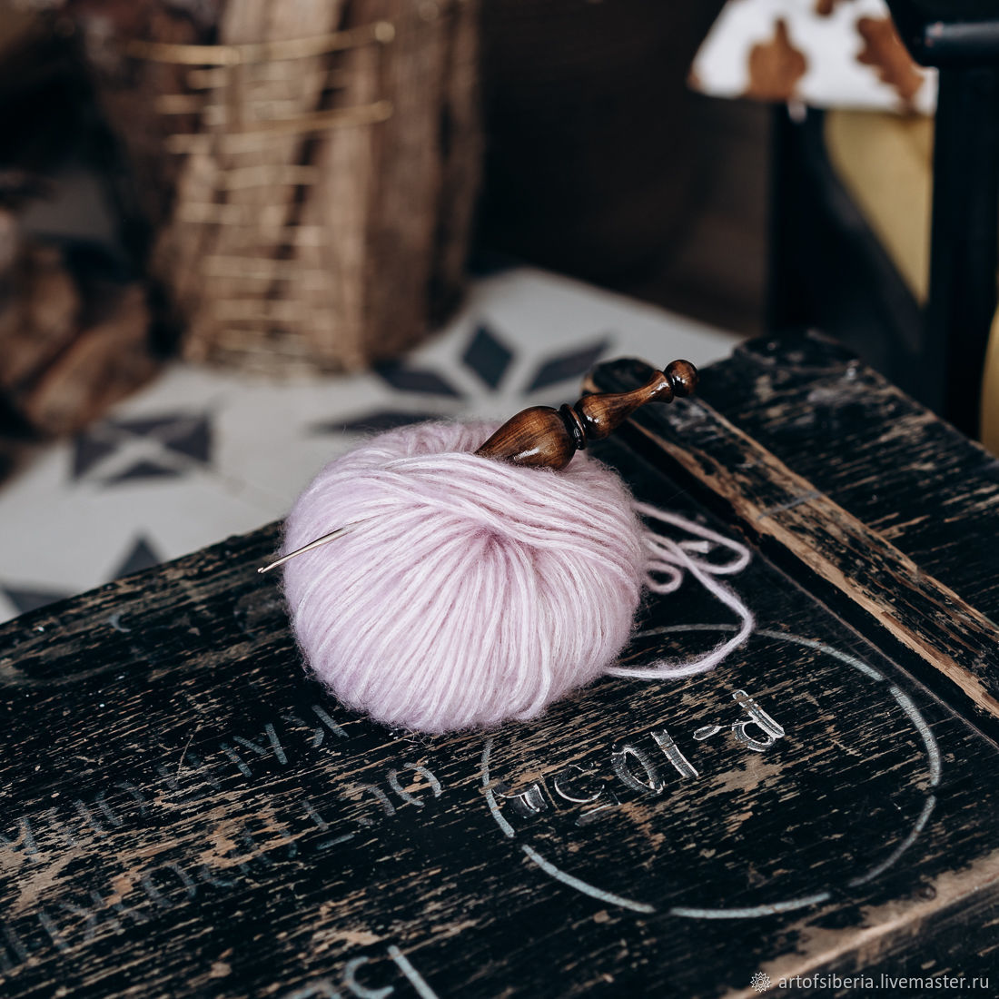 1,75 mm iron crochet hook with wooden handle (cedar) K221, Crochet Hooks, Novokuznetsk,  Фото №1