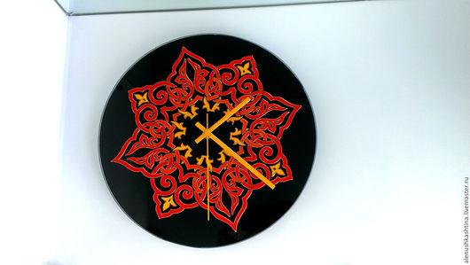 Часы для дома ручной работы. Ярмарка Мастеров - ручная работа. Купить Часы настенные «Сочный контраст». Handmade. Часы
