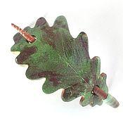 Украшения handmade. Livemaster - original item the pin oak. The fall (oak leaf, brooch, hair pin shawl). Handmade.