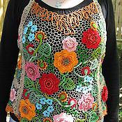 """Одежда ручной работы. Ярмарка Мастеров - ручная работа Топ-фартук """"Цветочный"""". Handmade."""