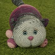 Для дома и интерьера handmade. Livemaster - original item Fuchsia Cat Pillow toy. Handmade.
