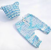 Работы для детей, ручной работы. Ярмарка Мастеров - ручная работа Комплект для фотосессии: штанишки и шапочка для новорожденного.. Handmade.