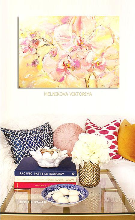 """Картины цветов ручной работы. Ярмарка Мастеров - ручная работа. Купить """"Сон нежности """"  картина маслом 50/70 см холст на подрамнике. Handmade."""
