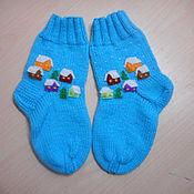 """Вязаные носочки """"Зимняя сказка"""""""