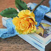 Цветы и флористика ручной работы. Ярмарка Мастеров - ручная работа Солнечная роза.. Handmade.