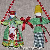 Куклы и игрушки ручной работы. Ярмарка Мастеров - ручная работа Кукла-оберег семьи Сёмик с Семичихой.. Handmade.