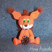 Куклы и игрушки handmade. Livemaster - original item Squirrel Baby. A knitted squirrel. Handmade.