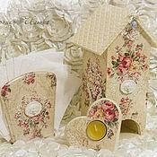 Для дома и интерьера ручной работы. Ярмарка Мастеров - ручная работа Чайный набор Винтажные розы. Handmade.