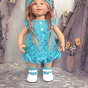 Куклы и игрушки ручной работы. Ярмарка Мастеров - ручная работа вязанный наряд для кукол Rosmarie Anna Muller. Handmade.