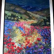 """Картины и панно ручной работы. Ярмарка Мастеров - ручная работа картина из шерсти"""" горный пейзаж"""". Handmade."""
