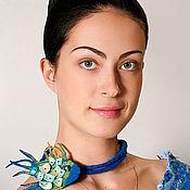 Аксессуары ручной работы. Ярмарка Мастеров - ручная работа Валяная брошь Синяя рыбка, в комплекте с шнуром. Handmade.