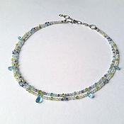 Украшения handmade. Livemaster - original item Necklace with beryl, apatite and peridot. Handmade.