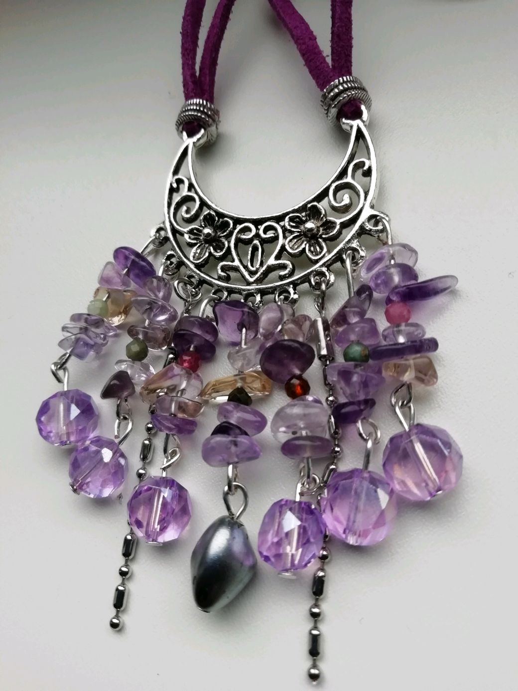 Boho necklace with ametrine and tourmaline ' BABYLON', Necklace, Moscow,  Фото №1