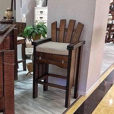 Мебель ручной работы. Ярмарка Мастеров - ручная работа Барное кресло из массива дерева. Handmade.