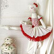 """Куклы и игрушки ручной работы. Ярмарка Мастеров - ручная работа Кошка """"Вторят пуанты волшебной мелодии..."""". Handmade."""