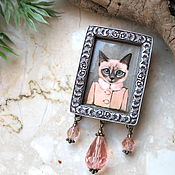 Украшения handmade. Livemaster - original item Cat brooch, kitten brooch, polymer clay brooch. Handmade.
