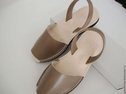 Обувь ручной работы. Ярмарка Мастеров - ручная работа. Купить Темно серые сандалии на танкетке. Handmade. Серый, сандалии из испании