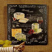 Картины и панно ручной работы. Ярмарка Мастеров - ручная работа «Сыр!» кулинарное панно. Handmade.