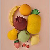 Мягкие игрушки ручной работы. Ярмарка Мастеров - ручная работа Деревянная игрушка «Набор фруктов». Handmade.