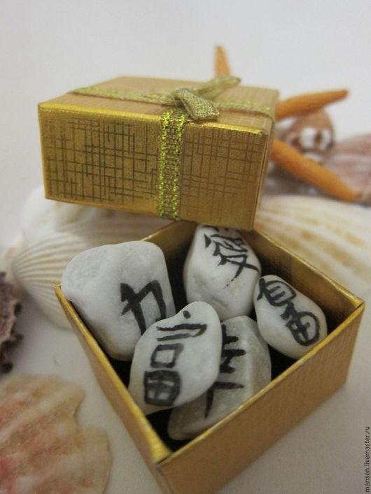 Обереги, талисманы, амулеты ручной работы. Ярмарка Мастеров - ручная работа. Купить Набор камней с иероглифами № 2. Handmade.