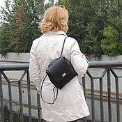 Сумки и аксессуары handmade. Livemaster - original item Backpack bag womens black leather Gloria. Handmade.