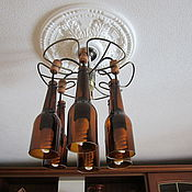 Для дома и интерьера ручной работы. Ярмарка Мастеров - ручная работа люстра из бутылок. Handmade.