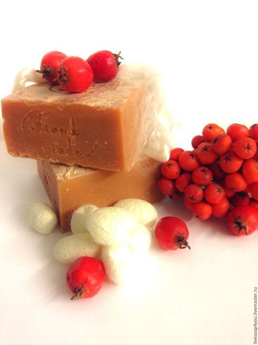 """Мыло ручной работы. Ярмарка Мастеров - ручная работа. Купить """"Рябина и боярышник """" натуральное мыло ручной работы. Handmade."""