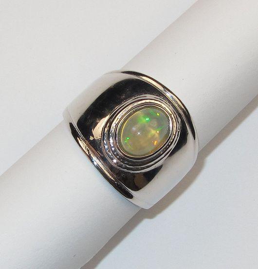 Кольца ручной работы. Ярмарка Мастеров - ручная работа. Купить Опал в серебре. Кольцо. Handmade. Разноцветный, кольцо с опалом