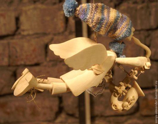 """Коллекционные куклы ручной работы. Ярмарка Мастеров - ручная работа. Купить Ангел """"Ветрувианский саксофонист"""". Handmade. Комбинированный, ангел, шерсть"""