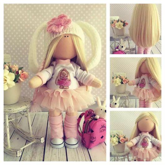 Куклы тыквоголовки ручной работы. Ярмарка Мастеров - ручная работа. Купить Кукла снежка 35 см. Handmade. Снежинка, тыквоголовка