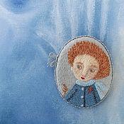 Украшения handmade. Livemaster - original item About Rain. Brooch. Embroidery. Handmade.