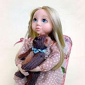 """Куклы и игрушки ручной работы. Ярмарка Мастеров - ручная работа """"Машенька и медведь"""". Handmade."""
