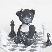 Куклы и игрушки handmade. Livemaster - original item Chess teddy bear. Handmade.